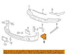 GM OEM Front Bumper-Bumper Bracket Right 12335638