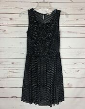 Anthropologie Mystree Black White Polka Dot Sleeveless Dress ~ Women's S Small