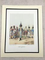 Vintage Militare Stampa Grande Francese 3rd Regiment Granatiere Napoleone Guards