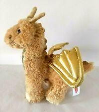 "Melissa & Doug Dragon Plush Shiny Golden Luster 10"" Animal ~ For All Ages"