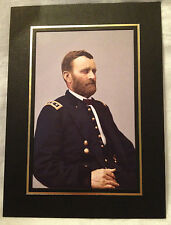 Colorized Image of Civil War Union General Ulysses S. Grant with Holder