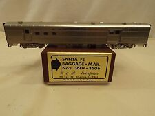 Ho W&R Enterprises brass Santa Fe baggage-mail car in original box