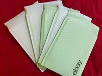 """5 Count eBay-Branded Padded Airjacket Mailers Blue/Green Size 6.5"""" x 9.25"""""""