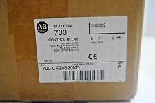 700-CFZ0620KD Allen Bradley Control Relay  with 110v coil and 100-S ser A NEW