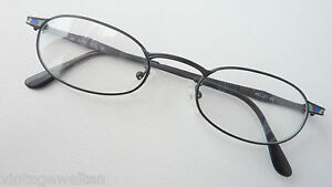 Binde Glasses Frames Black, Colourful Decor Small Oval Metal 48-21 Size M