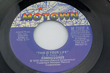Commodores: This is Your Life / Look What You've Done to Me   [Unplayed Copy]