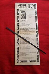CAPITAL RADIO 194 ORIGINAL VINTAGE ADVERT 1976 SHOW SCHEDULE DJ TOMMY VANCE