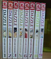 Dazzle 1-3, 5-9 Lot of 8 Shojo Manga, English, 13+, Minari Endoh