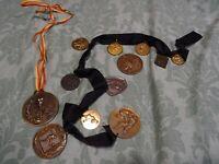 lot 12médailles sportives  judo,foot ,pétanque