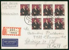 MayfairStamps Germany 1973 Ludwig Tieck Berlin Registered to Chicago Illinois Ai