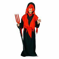 Halloween Children's Devil Boy Costume Kids Dress Up Idea Evil Hell Demon Reaper