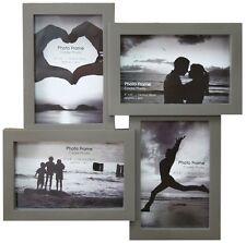 4 Multi Tonal Plastic Photo Frame - Dark Grey