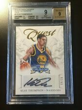 2012-13 Klay Thompson Rookie RC Auto GOLD /25 BGS 9 Crusade #5 Mint Warriors