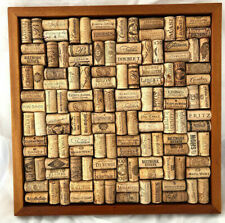 "Wine Enthusiast Wine Cork Bulletin Message Board 16""x16"" Completed kit Mahogany"