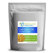 270 aceite de hígado de bacalao alta resistencia 1000 MG-natural y saludable dieta suplemento de Reino Unido
