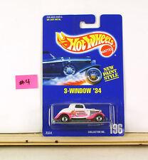 Hot Wheels 3-window '34 White With Pink Fenders RARE VHTF  BP 196   B5
