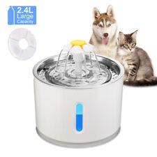 2,4L Pet Wasser Brunnen Wasserspender Trinkbrunnen Für kleine Hunde und Katzen