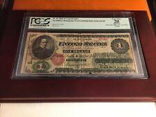 1862 $1 Legal Tender fr# 16 PCGS 20