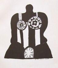 "NIKI DE SAINT PHALLE ltd ed mounted original Nana lithograph, 14 x 14"" MoMA 1967"