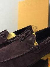 $495 TOD'S*2017 LIMITED EDITION Sz 6UK/7US CITY Loafers Driving Shoes BURGUNDY