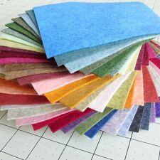 "38 - 6""X6"" Heathered Collection - Merino Wool blend Felt Sheets"