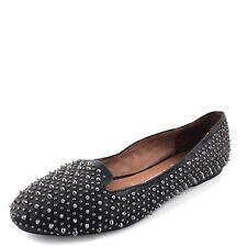 Jeffrey Campbell Martini Black Leather Studded Flats Women's Size 7 M*