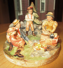 "1979 Sebastian Miniatures Signed Pw Baston ""Family Picnic"""