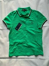 FRED PERRY G9762 VETIVER GREEN TWIN TIPPED WOMEN POLO