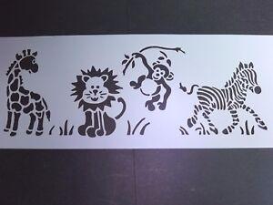 Jungle Lion Zebra Stencil Card Making Scrapbooking Airbrush Painting Home Decor