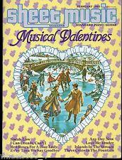 Sheet Music Magazine February 1985 Standard Piano / Guitar Musical Valentines