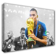 KYLIAN MBAPPÉ PSG France World Cup Kiss 2018 Canvas Print Art ~ 5 Sizes NT07