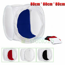 """32""""/80cm Photo Studio Shooting Tent Light Softbox Cube Box Kit + 4 Backdrops New"""