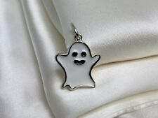 Tiffany & Co. Sterling Silver 925 White Enamel Halloween Ghost Charm