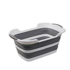 Collapsible Plastic Laundry Basket Foldable Storage Container Baby Bathtub - Usa