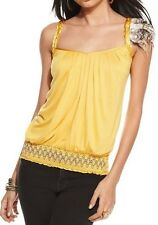 NWT BABY PHAT Size XL  Sleeveless BRAIDED STRAP TOP with removable feather