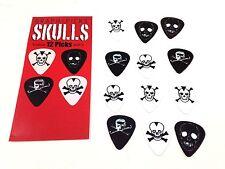 Guitar Picks Skulls Metal Death Themed 12 Pack (1 Dozen)