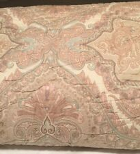 Pottery Barn Audrey Quilt Blush Pink Paisley Full / Queen New! Ivory Backing