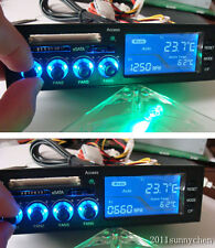 E-SATA LCD Panel Speed Controller f CPU Sys Temp PC Fan