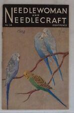 vintage needlewoman and needlecraft no.34 magazine wartime 1948