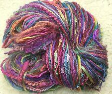 art Yarn hand dyed 150 yds hand tied multi fibers scarf cowl jewelbox