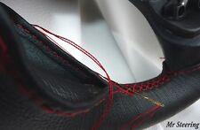 Fits RENAULT R8 GORDINI en cuir italien noir volant couvre coutures rouge