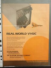 10/1986 PUB TELEDYNE SYSTEMS VHSIC TDY-750V ADVANCED STANDARD COMPUTER AD