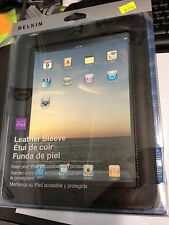 Apple iPad Leather Sleeve Original in Black by Belkin. Sealed Brand New in Box