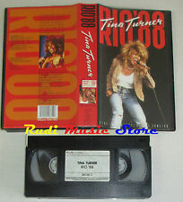 VHS TINA TURNER Rio 88 1988 POLYGRAM VIDEO 641 661 2 cd lp dvd mc(VM6)