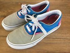 63a51bb815 VANS CLASSIC LACE-UP ( BLUE   GRAY   PINK ) YOUTH SIZE 1 PREOWNED