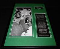 1957 NBA Finals Game 7 Framed 12x18 Photo Display Celtics vs Hawks