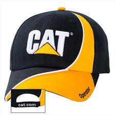 Caterpillar black/yellow ball cap w/ Operator on bill of hat white CAT logo