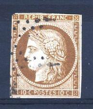 "FRANCE STAMP TIMBRE N° 1 a "" CERES 10c BISTRE BRUN 1850 "" OBLITERE A VOIR  T212"