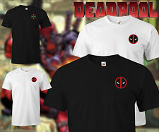 Deadpool comicon Cosplay comic con t shirt red on black white t-shirt belt