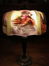 pittsburgh arts crafts reverse painted antique lamp handel bradley hubbard era n